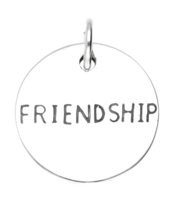 Zilveren Friendship kettinghanger