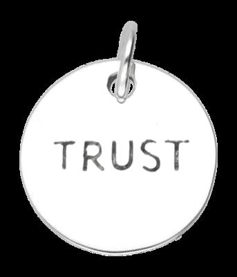 Zilveren Trust kettinghanger