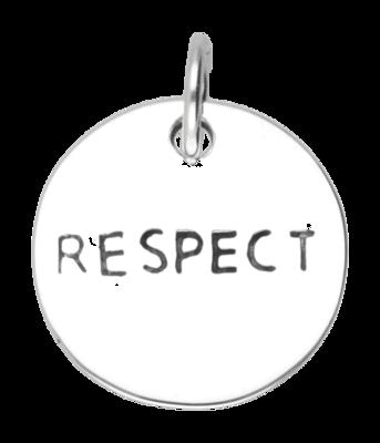 Zilveren Respect kettinghanger