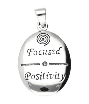 Zilveren Focused Positivity kettinghanger