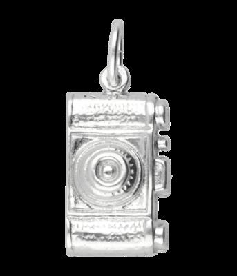 Zilveren Fototoestel - Fotocamera ketting hanger - groot