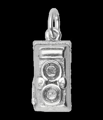 Zilveren Fotocamera ketting hanger - antiek