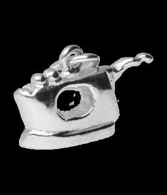 Zilveren Strijkijzer ketting hanger
