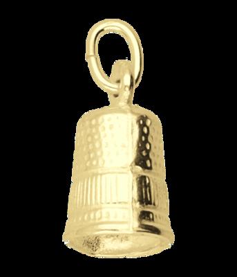 Gouden Vingerhoed groot ketting hanger