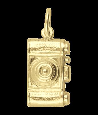 Gouden Fototoestel - Fotocamera middel ketting hanger