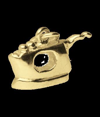 Gouden Strijkijzer ketting hanger