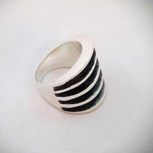 ZilverenRing design met 5 banen