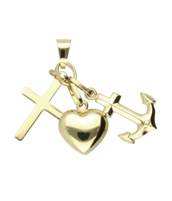 Gouden Hoop geloof en liefde - los - hanger