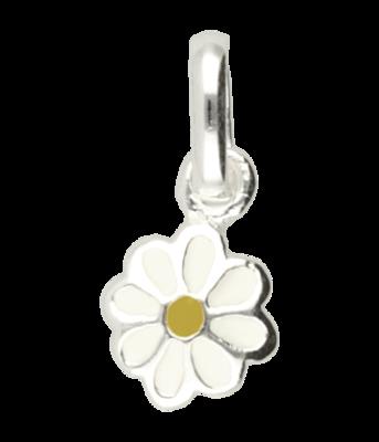 Zilveren Madelief bloem hanger