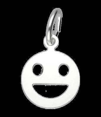 Zilveren Smiley hanger