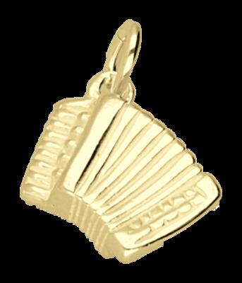 Gouden Accordeon ketting hanger