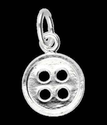 Zilveren Knoop overhemd kettinghanger