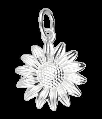 Zilveren Zonnebloem kettinghanger