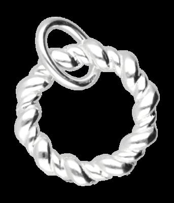 Zilveren Karma klein kettinghanger