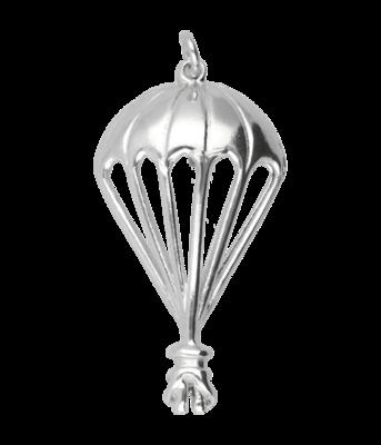 Zilveren Parachute kettinghanger