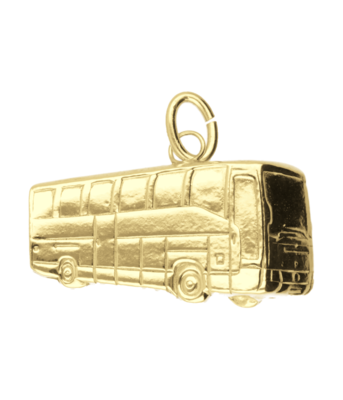 Gouden Stadsbus 3D kettinghanger