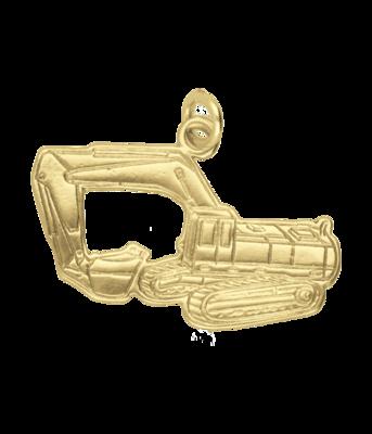 Gouden Graafmachine op rupsbanden kettinghanger