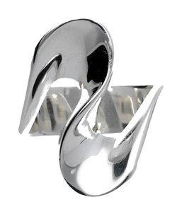 Zilveren ring design gepolijst