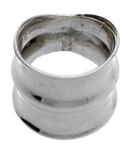 Zilveren ring breed met 3 randen gepolijst