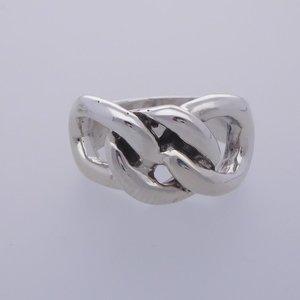Zilveren ring gourmet knoop zwaar