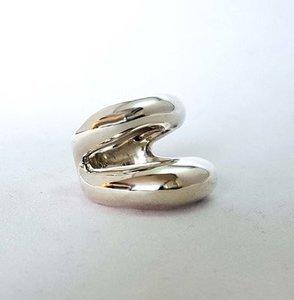 Zilveren ring Modern Lips