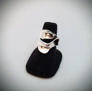 Zilveren ring Strak Modern met verschillende gaten