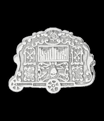Zilveren Draaiorgel ketting hanger - met zilveren askoker