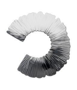 Zilveren Bloem design abstract gehamerd broche kledingspeld