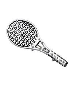 Zilveren Tennisracket broche kledingspeld