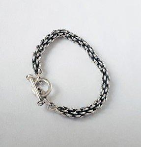 Zilveren triple ankerschakel massief 19,0 / 20,5 cm armband