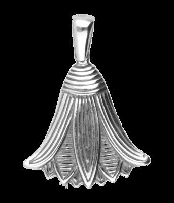 Zilveren Bloemenkelk Art Nouveau Jugendstil hanger