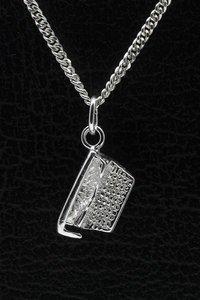 Zilveren Typemachine ketting hanger