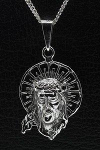 Zilveren Hoofd van Judas ketting hanger