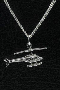 Zilveren Helicopter 2 ketting hanger