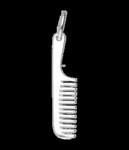 Zilveren Kam met steel ketting hanger