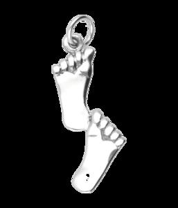 Zilveren Voeten - Voetstap kettinghanger
