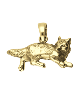Gouden Vos omkijkend kettinghanger